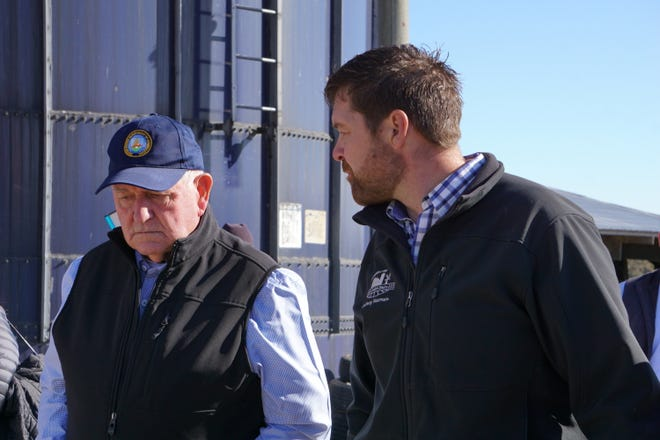 Secretary Perdue talks with Double Dutch Dairy owner Brody Stapel.