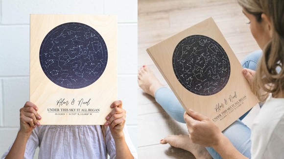Best gifts for girlfriends: Star map