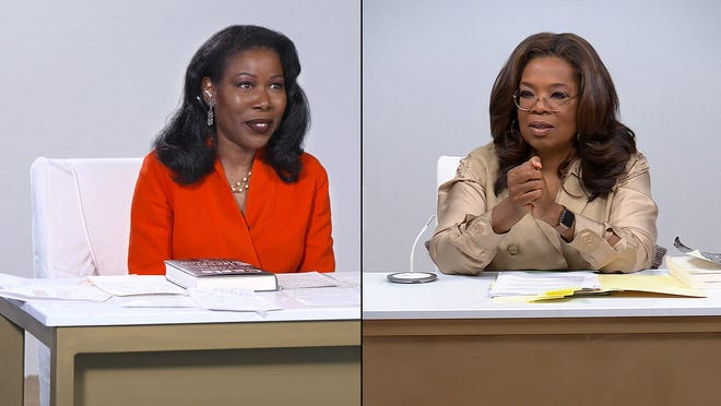 "Author Isabel Wilkerson and Oprah Winfrey discuss Wilkerson's book ""Caste"" on ""Oprah's Book Club,"""