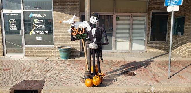 A spooky creation from the Southern Oklahoma Library System near the TIvoli.