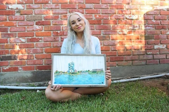 An artist is using her talent to help those affected by Hurricane Laura