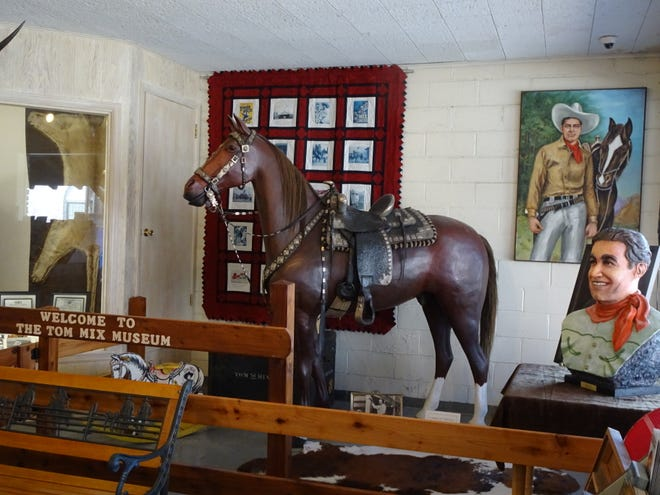An exhibit at the Tom Mix Museum in Dewey. Courtesy