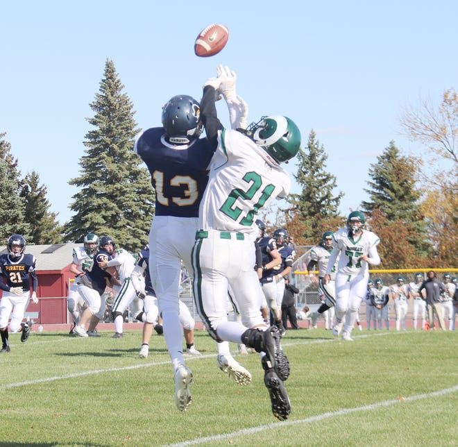 The Crookston football team won its first game of the season, 14-10, over Roseau on Oct. 3.