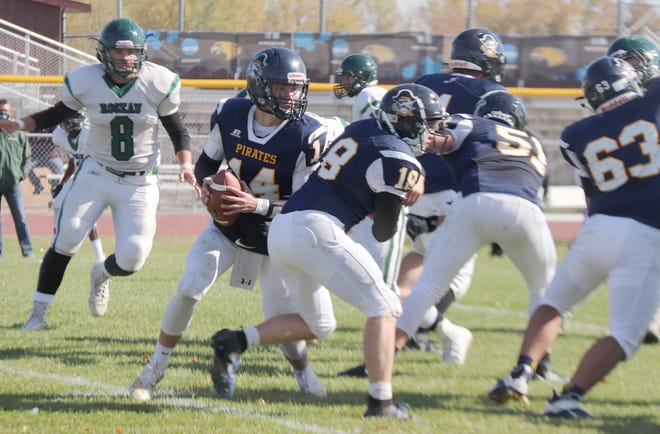 The Crookston football team has adopted the veer option offense this season.