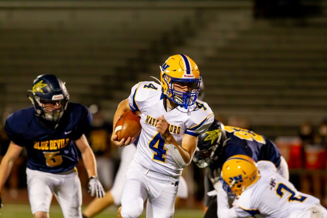 Waynesboro and Greencastle-Antrim faced off Friday, Oct. 2, 2020. Waynesboro's Rhyan Day intercepted a Greencastle-Antrim pass with 25.5 seconds remaining in the game to make sure the Indians preserved a hard-fought 14-7 win.