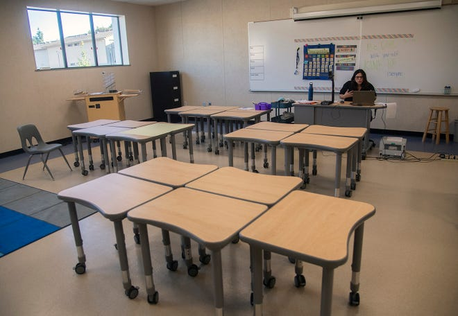 San Joaquin County's advancement to the red tier of the state's four-tier, color-coded reopening plan offers schools the opportunity of returnijng to campus for in-person instruction with modifications. [CLIFFORD OTO/THE STOCKTON RECORD]