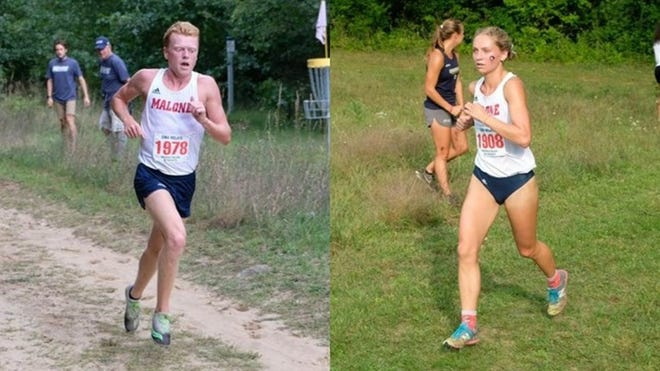 Zach Fresenko and Makenna Curtis-Collins were Malone's top finishers at the Louisville Cross Country Classic. (Malone University Athletics)
