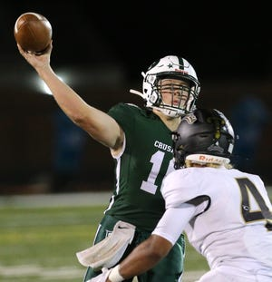 Quarterback Jack Talkington rushed for a team-high 83 yards in Central Catholic's win at United.