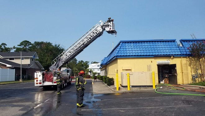 The Wilmington Fire Department responded to a fire at the Boathouse Restaurant on Friday.