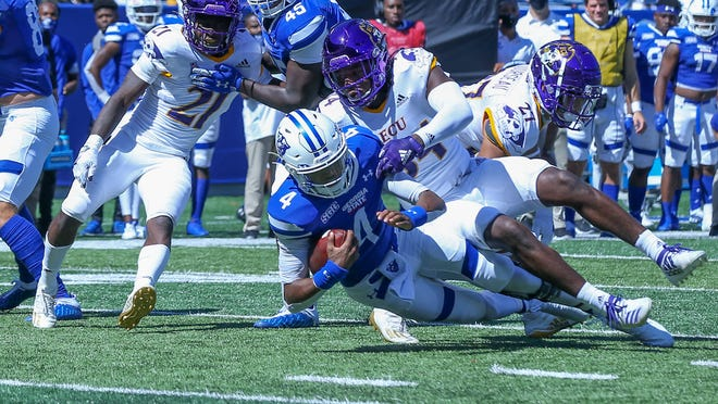 East Carolina fell to Georgia State, 49-29, Saturday in Atlanta.