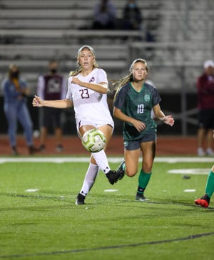 Kate Ratliff and the Canal Winchester girls soccer team sought to break an eight-game winless streak when they played Westerville South on Oct. 1.