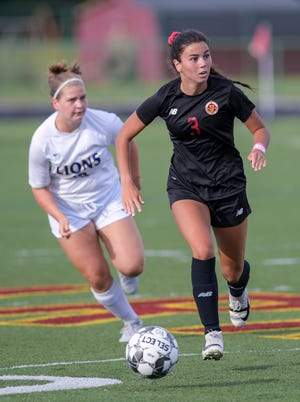 """Allison Bolen and the Westerville North girls soccer team were 7-4-1 overall and 4-1 in the OCC-Capital Division after defeating Big Walnut 5-2 on Oct. 1. """"Our organization and our ball movement as a team has been good. We need to work on our defensive effort,"""" first-year coach Jason McLead."""