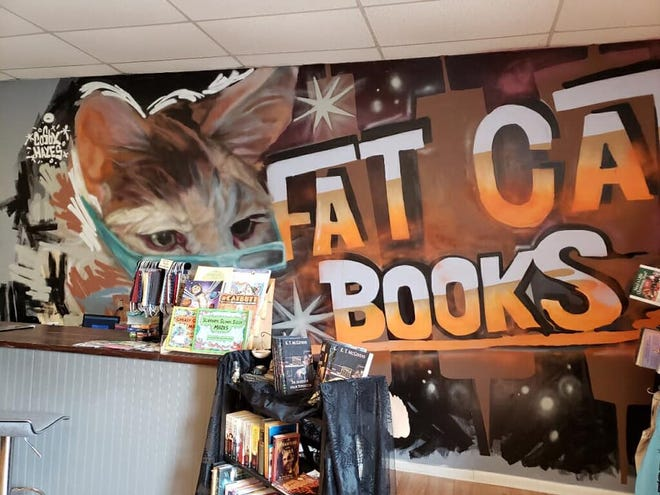 Inside Tallahassee's newest cat café, Fat Cat Books.