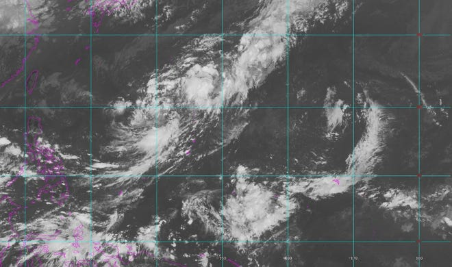 Current conditions over Guam and the Marianas as of 3 p.m. Saturday