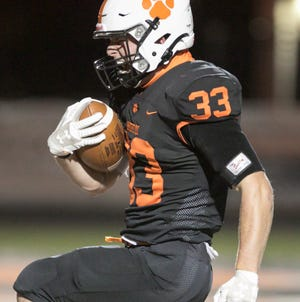 Sheldon Riley gets Brighton within a point of Canton with a 22-yard touchdown run late in the game on Friday, Oct. 2, 2020.
