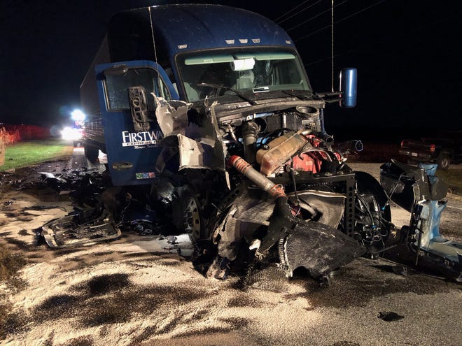Two children were killed Friday night when a pickup truck they were passengers in collided head-on with a semi-tractor trailer on Ind. 18 in northern Blackford County.
