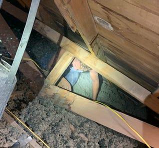Border Patrol agents found a convicted felon hiding in a stash house in El Paso.