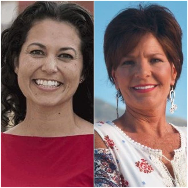From left, U.S. Rep Xochitl Torres Small, D-N.M., faces Republican challenger Yvette Herrell for the U.S. House of Representatives in New Mexico's second congressional district.