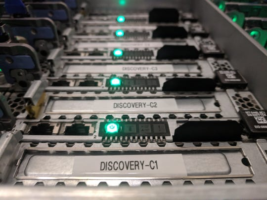 Photo of HCP servers at NMSU funded by grant from the National Science Foundation.