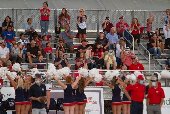 Dixie High football defeats Crimson Cliffs 25-15 Friday, Oct. 2, 2020.