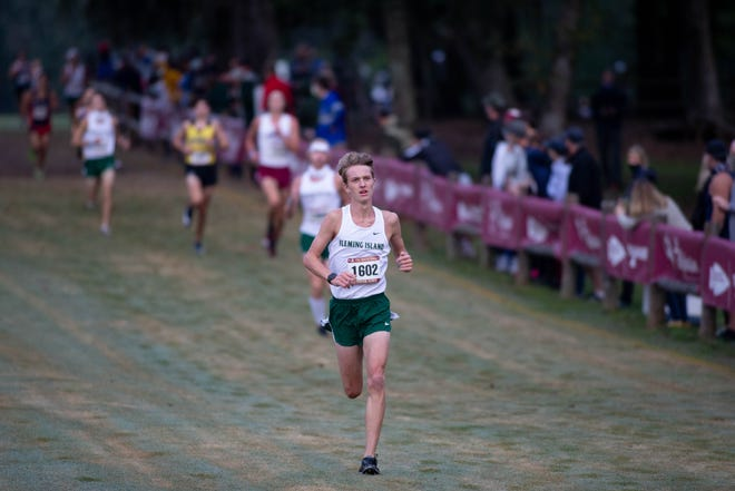 High school cross country runners compete in the 2020 FSU Invitational meet at Apalachee Regional Park in Tallahassee Saturday, Oct. 3, 2020.
