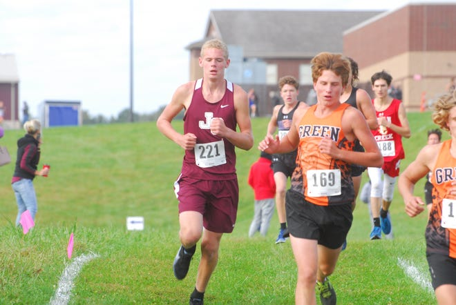 John Glenn's Kody Clendenning competes in Saturday's Cambridge Invitational. The Muskies finished fifth as a team.