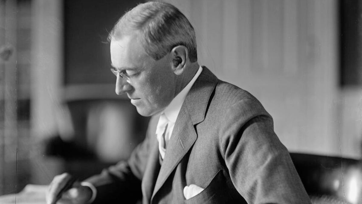 Woodrow Wilson downplayed the 1918 flu pandemic. Then, he got violently sick.