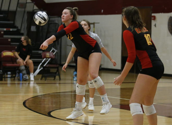 "Junior Caroline Speelman has become a key leader for the Big Walnut girls volleyball team while also working to improve her own game. She calls an early season sprained ankle ""a blessing in disguise"" because she was able to see the sport from a different perspective while sidelined."