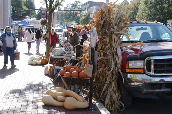 Pumpkins and corn shocks were signs of fall at Waynesboro's 16th annual Market Day on Saturday.