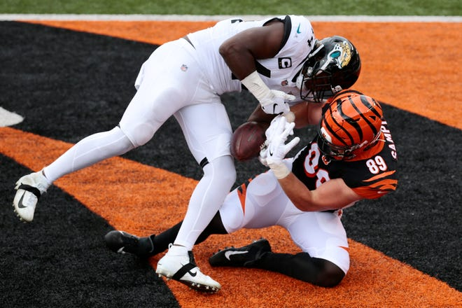 Myles Jack's signature play this season might have been the strip in the end zone of Cincinnati tight end Drew Sample, which prevented a touchdown.