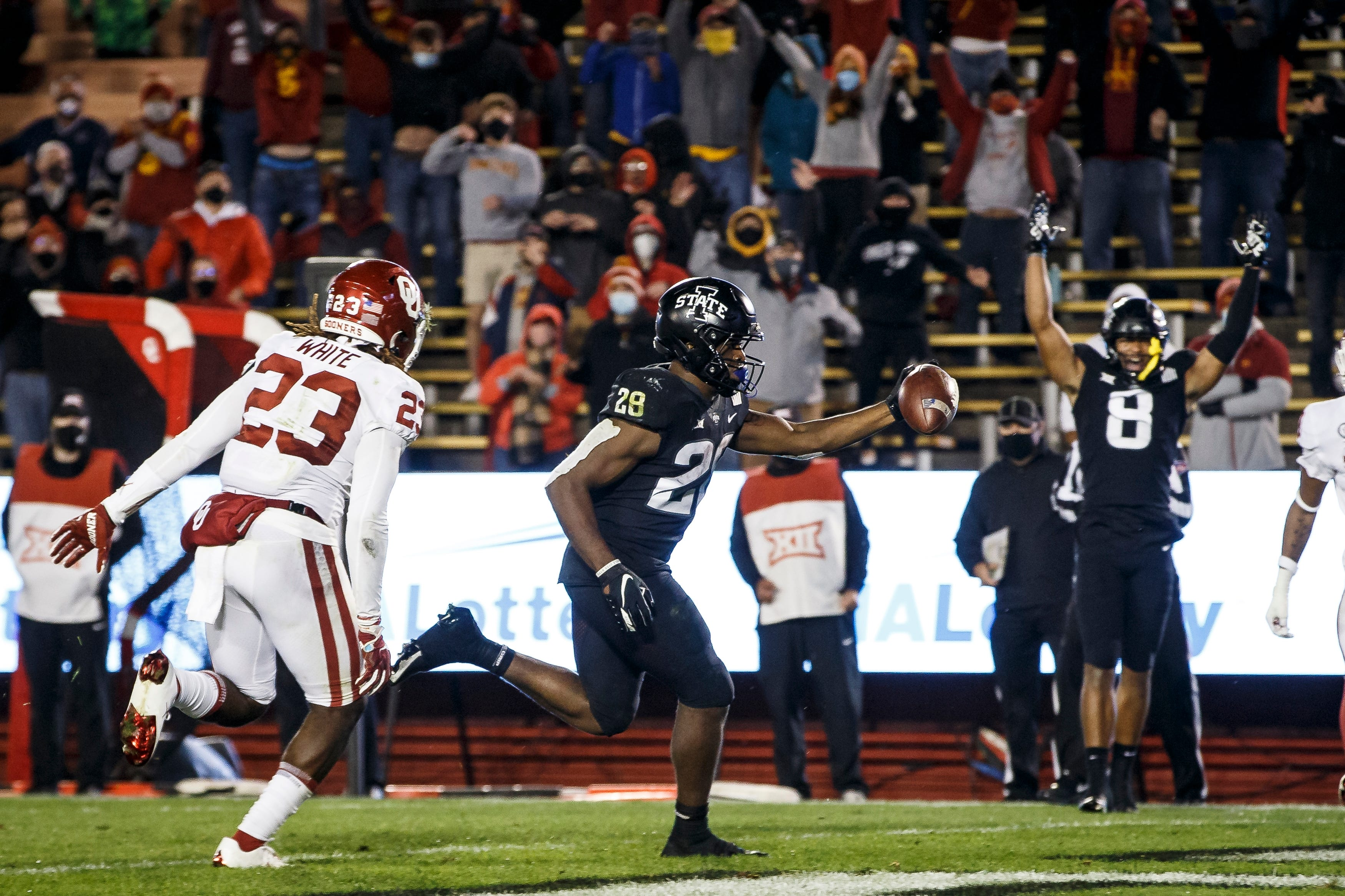 Iowa State football: Breece Hall unstoppable in 37-30 upset of No. 16  Oklahoma