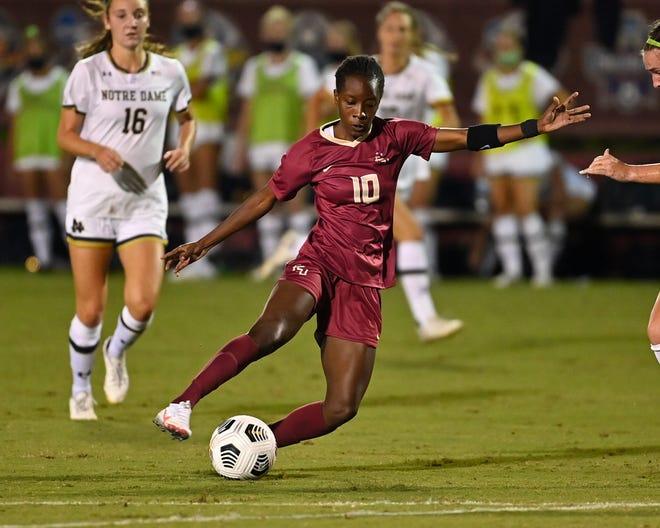 Jody Brown has already scored two goals through her first three matches as a Seminole. (Photo: FSU Athletics)