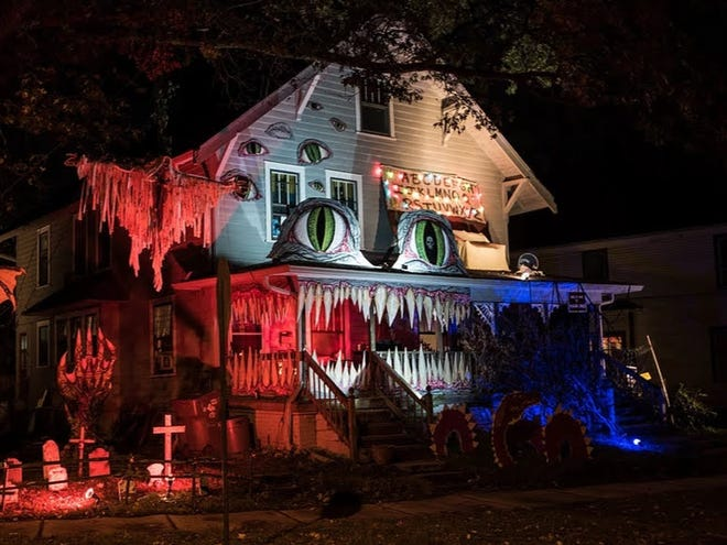 """Irvington residents will compete in a Halloween house-decorating contest this year, extending a tradition in the neighborhood named after """"The Legend of Sleepy Hollow"""" author Washington Irving."""