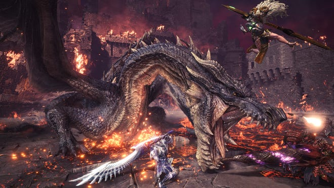 The legendary Black Dragon Fatalis swoops into Monster Hunter World: Iceborne with new gear and a pulse-pounding battle.
