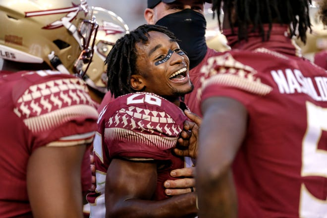 Cornerback Asante Samuel helped secure FSU football's first win of the 2020 season vs. Jacksonville State with an interception in the fourth quarter.