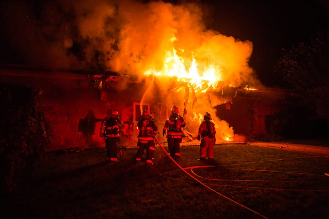 A fire damaged a home in the 3500 block of Davisville Road in Upper Moreland Sunday night.