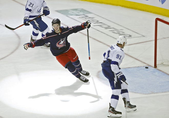 Blue Jackets forward Alexandre Texier, 21, has decided to remain in Grenoble, France with his family during an emergency illness situation among his inner circle. His loan agreement with Kalpa Kuopio in Finland was terminated Monday and he will now be loaned to a French professional team in Grenoble to play during the NHL offseason. [Kyle Robertson/Dispatch]