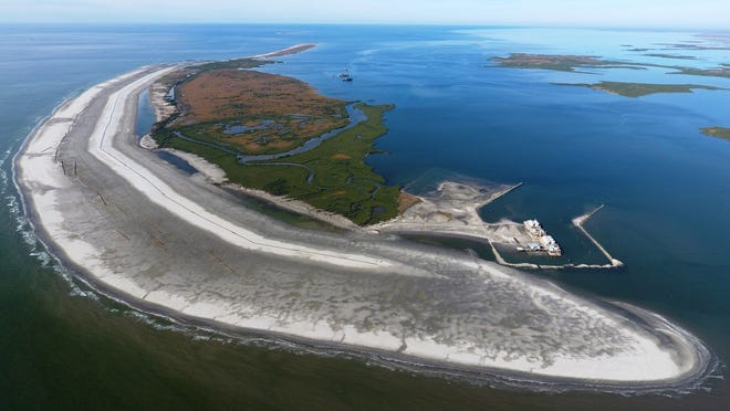 A scarcity of dredges, and a federal law that mandates they come from the U.S., have helped raise the cost of Louisiana coastal restoration work. For example, the 2018 restoration of Whiskey Island off Terrebonne Parish [above] cost $118 million and used 15.8 million cubic yards of dredged sand. A similar project in the Netherlands was completed for about half the cost and managed to move nearly two times as much sand.