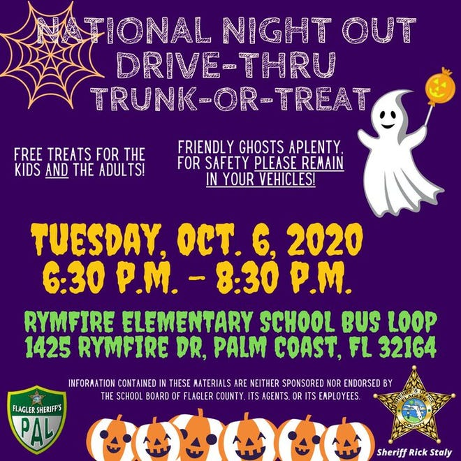 Trunk-or-treat scheduled at Rymfire Elementary on Tuesday in Palm Coast.
