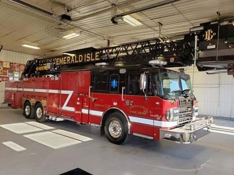 Town of Emerald Isle Fire Department recently received a new aerial ladder truck. The truck is designed to provide decades of increased safety to Emerald Isle residents, businesses and guests.