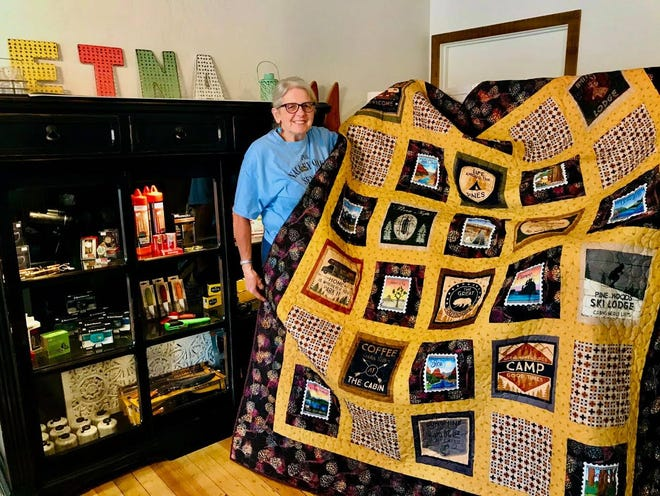 Judy Crook was the lucky winner of the Etna Beautification Project's quilt.