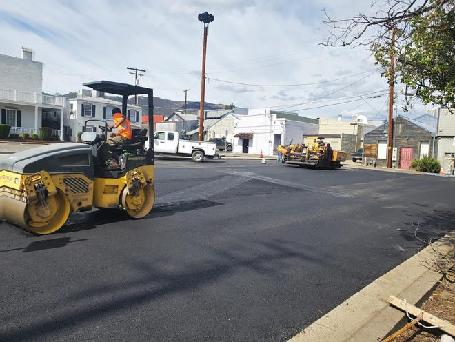 Parking lots in Yreka are getting facelifts.