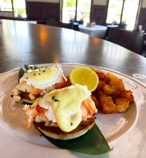 The new lunch menu at LoLa 41 includes eggs Benedict with Florida lobster.