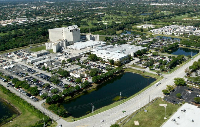 An aerial view of the Palm Beach County Jail.