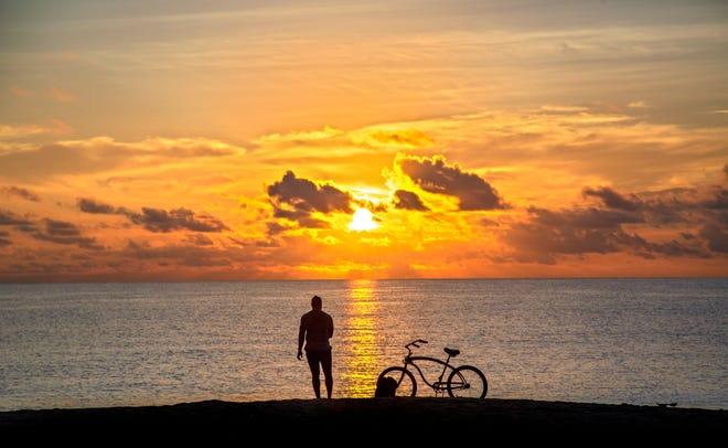 Sunrise over Palm Beach Wednesday, Sept. 30, 2020.
