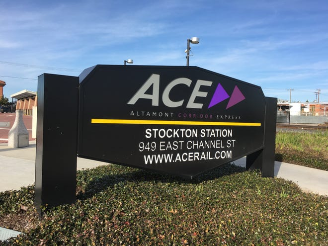 ACE announces cancelation of all Monday trains due to track work.