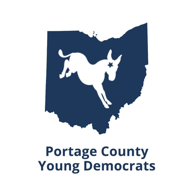 The logo for the Portage County Young Democrats.