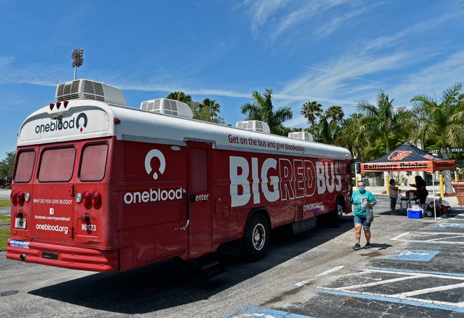 OneBlood will hold a blood drive from 10 a.m. to 4 p.m., Wednesday and Thursday, outside Venice City Hall, 401 W. Venice Ave., Venice. Pictured here, Baltimore Orioles hosted a blood drive at Ed Smith Stadium in partner with OneBlood, Inc. in May, where Lily Costanzo, of Sarasota, gave a pint.