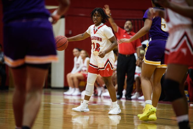 Seventy-First's Amore Kirkland spends her offseasons playing basketball for the Carolina Flames, whose roster features several Fayetteville-area athletes.