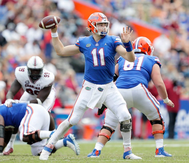 Florida quarterback Kyle Trask produced some nice numbers Saturday in the win over South Carolina, but he laments not closing out the game in the second half at Ben Hill Griffin Stadium.